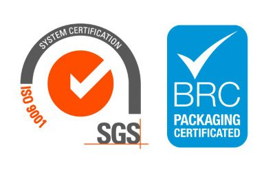 Impritex, uw leverancier van packaging in carton op aanmaak, is gecertificeerd ISO 9001:2015 en BRC packaging