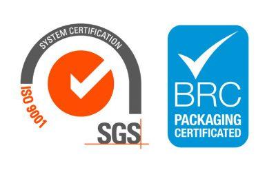 Impritex, votre fabricant de packaging en carton sur mesure, certifié ISO 9001:2015 et BRC packaging